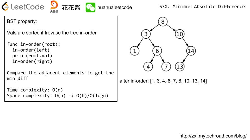 花花酱LeetCode 530  Minimum Absolute Difference in BST