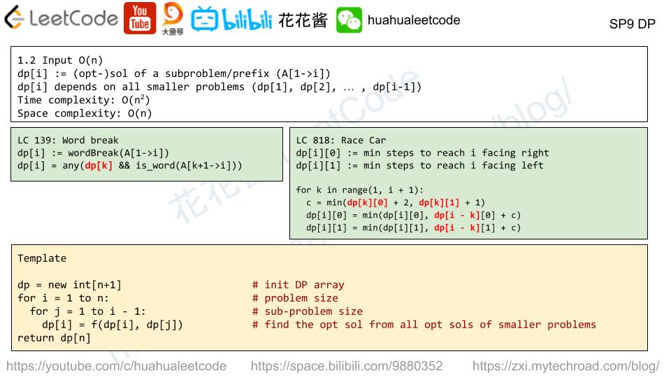 花花酱LeetCode DP Summary 动态规划总结- Huahua's Tech Road